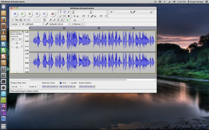 Audacity main window