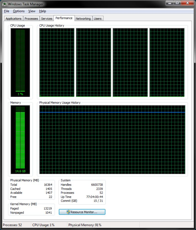 Windows 7 uptime