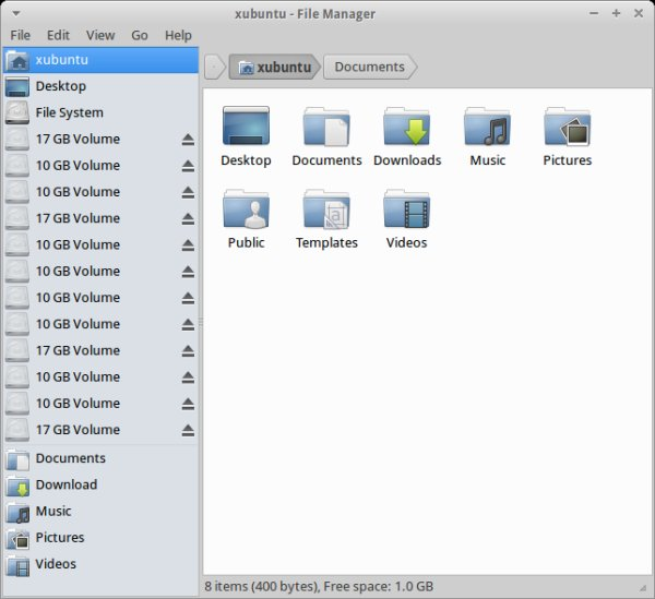 File manager, duplicate mounts