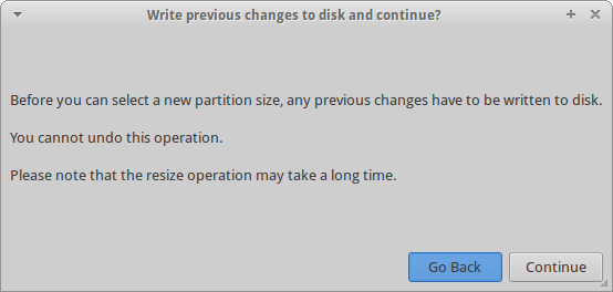 Partitioning, write changes now