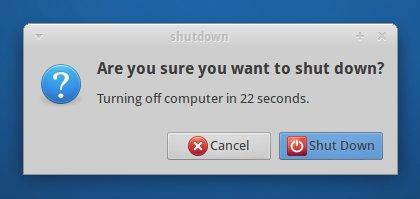 Shutdown button