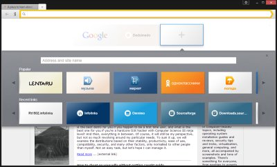 Yandex browser review