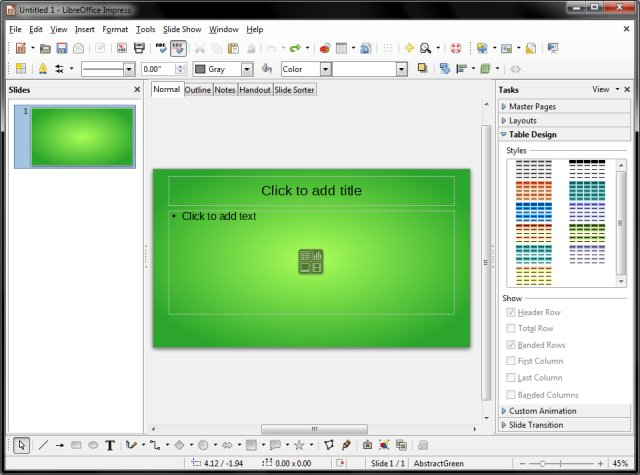 libreoffice 4 review - getting better but, Presentation templates