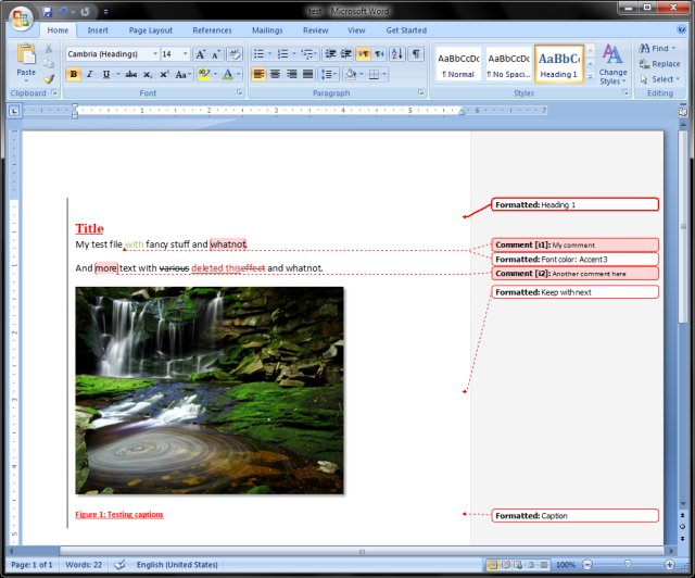 MS DOCX sample