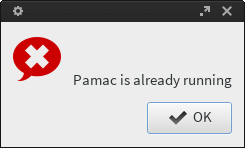 Pamac already running