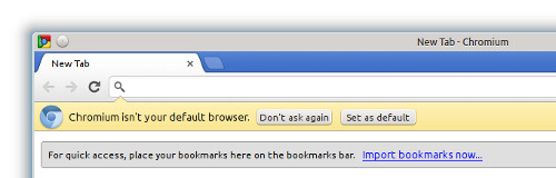 Not default browser