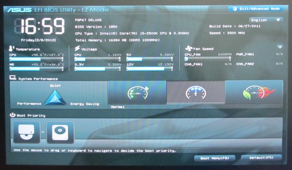 UEFI interface