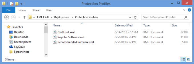 Protection profiles