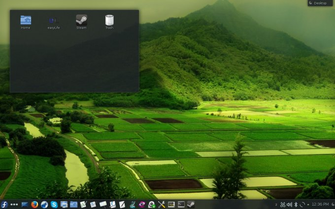 Cool desktop, KDE