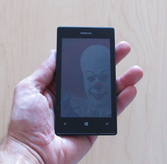 Lumia with Pennywise reflection