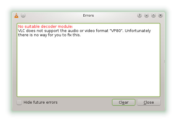 VLC does not support error - Howto & fix
