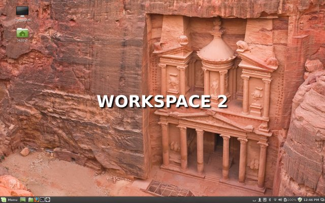 Workspace switcher transition effect