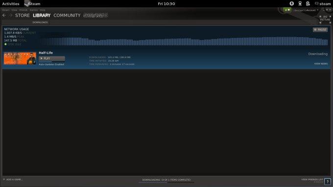 Downloading game