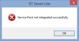 Not integrated, Windows 8
