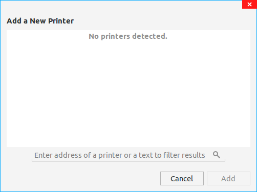 Printer does not work