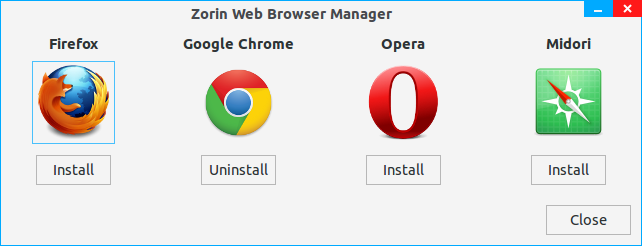 Web browser manager