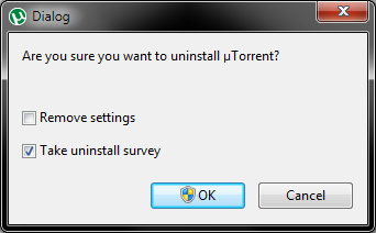 uTorrent uninstall