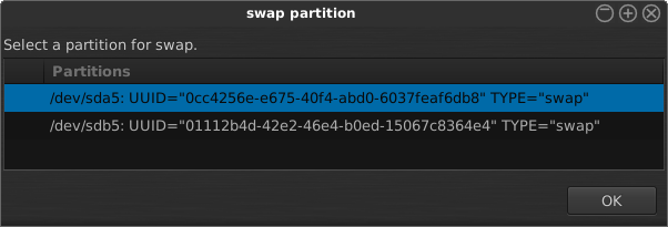 Why only one swap partition