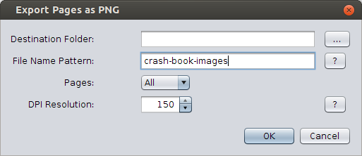 Export pages as images