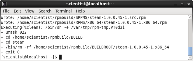 Steam, build RPM