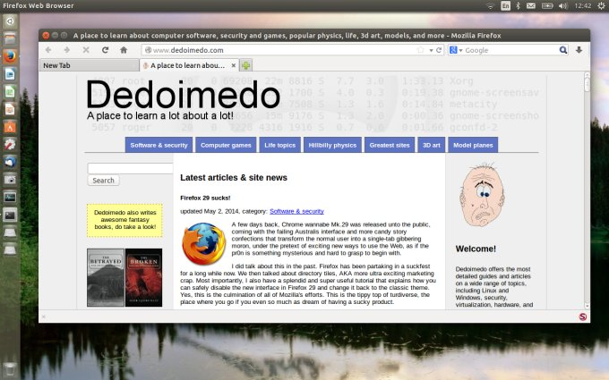 Running with tweaked Firefox