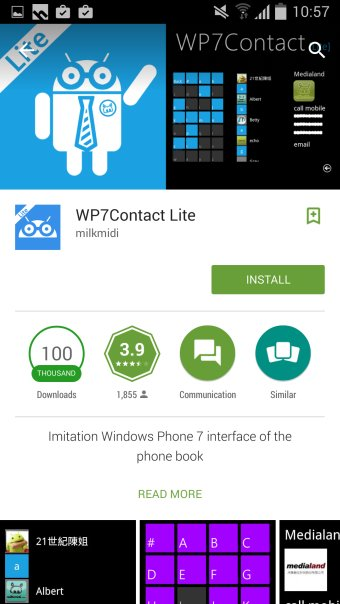 Install Contacts app