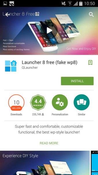 Make Android look like Windows Phone