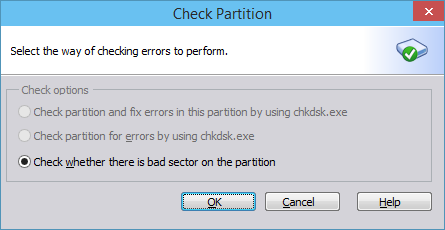 Check partition