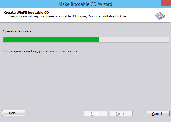 Creating bootable CD