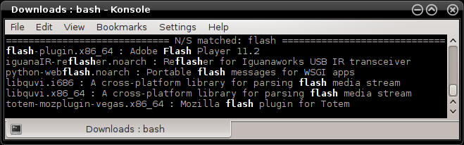 Flash in repo