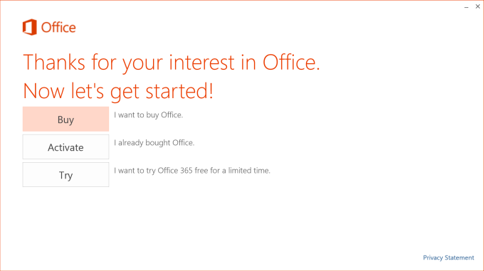 Not really an Office offer