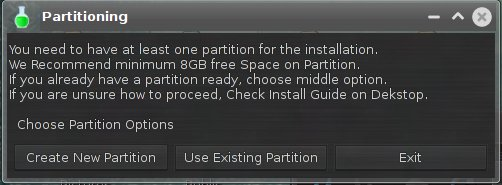 Use partitions, typo