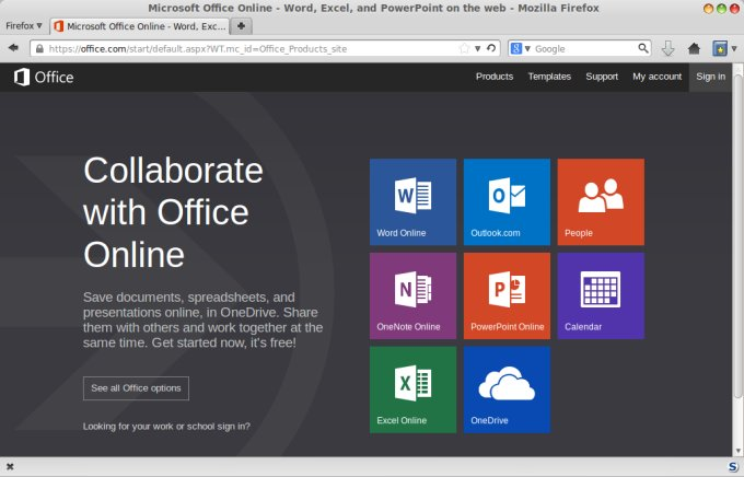 Microsoft Office Online On Linux