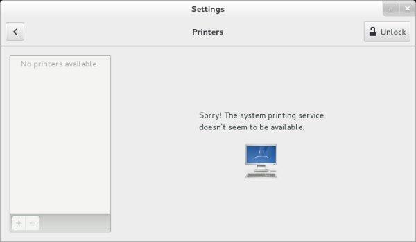 No printing service