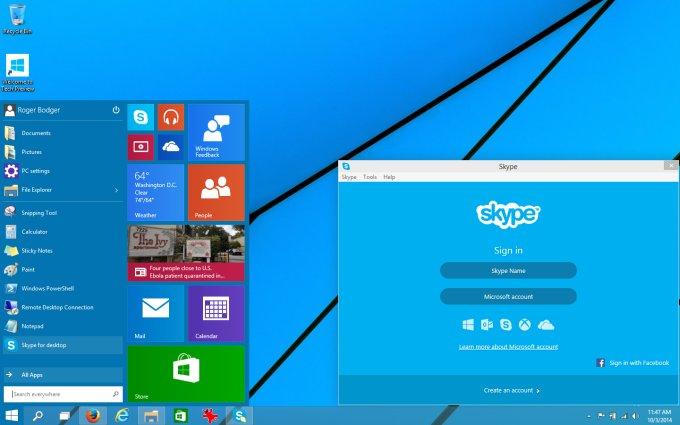 skype windows desktop start download install