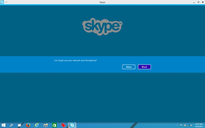Skype app launched