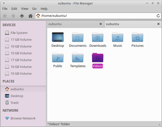 File manager, colors