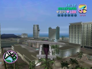 Flying above Vice City