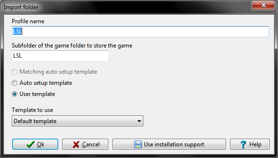 Importing game