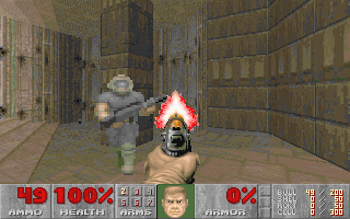 DOSBox multiplayer Doom 2 screenshot 1