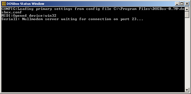 DOSBox multiplayer serial console