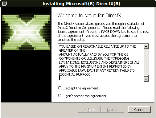 Begin install