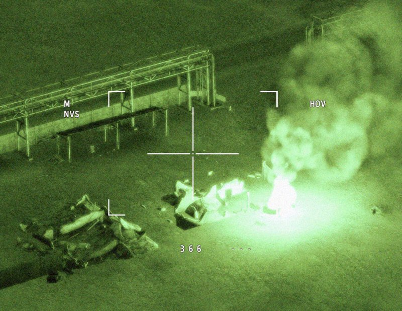 Night combat, Apache gun camera