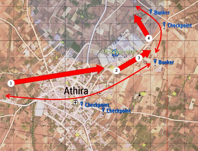 Map, push to Athira, details