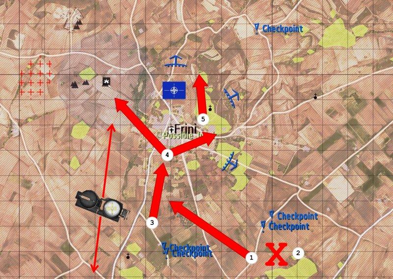 Map, push to Frini, details