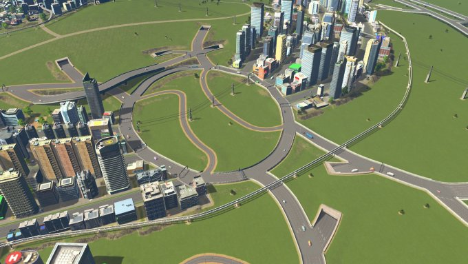Big roundabout, zoomed
