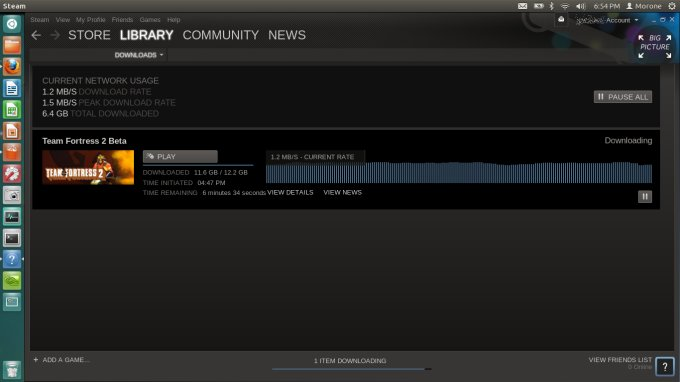 Steam Linux first impressions