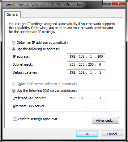 Configuring network