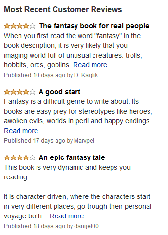 Reviews snippet